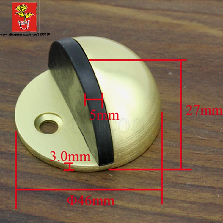 gold Half moon door stopper rubber door stops