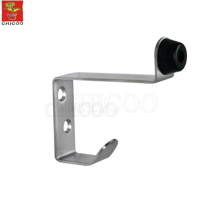 Stainless steel door stop with coat Hook